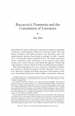 Boccaccio's Fiammetta and the Consolation of Literature