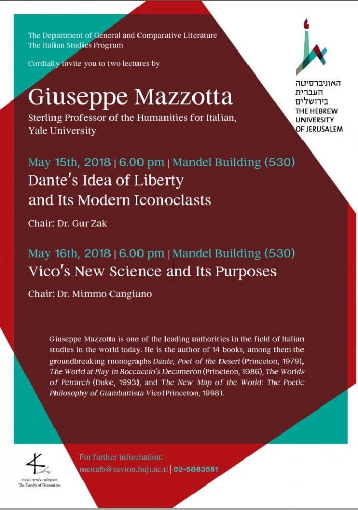 Two Lectures by Giuseppe Mazzotta